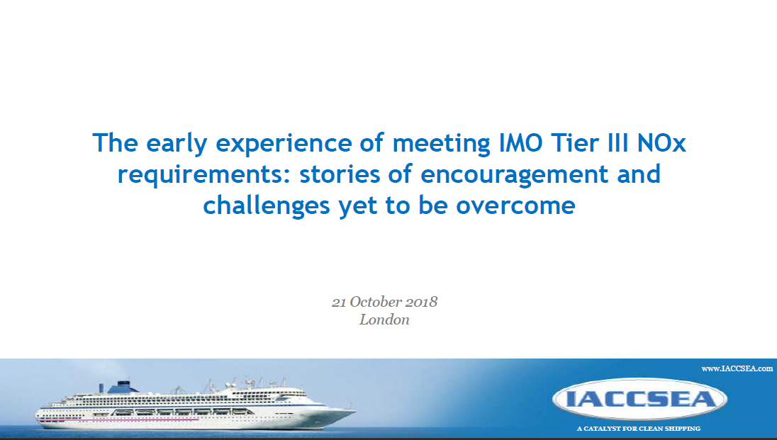 The experience with IMO Tier III NOx 2018